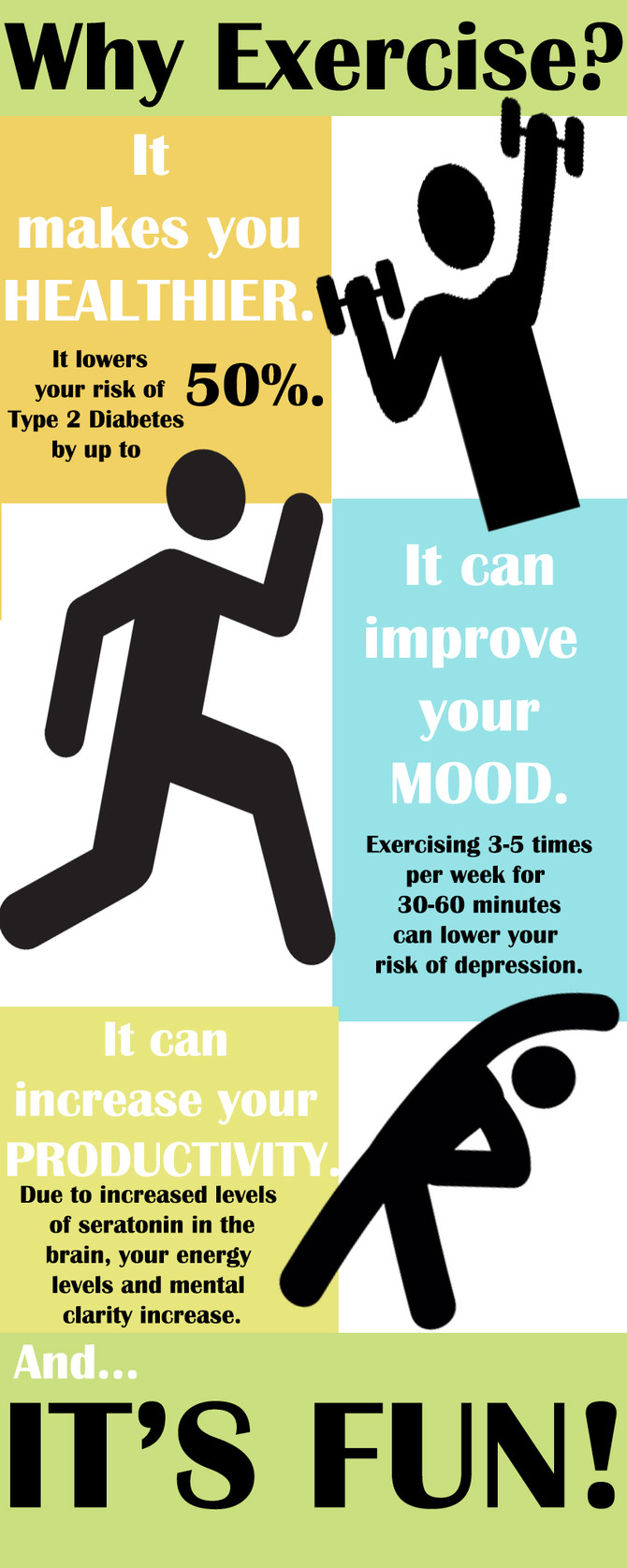 The benefits of exercise far outweigh the cost