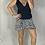 Thumbnail: Aggie Short Wrap Skirt - Black + White Leopard