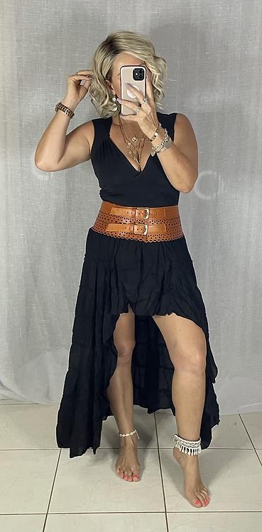Roxy Skirt - Midnight Black
