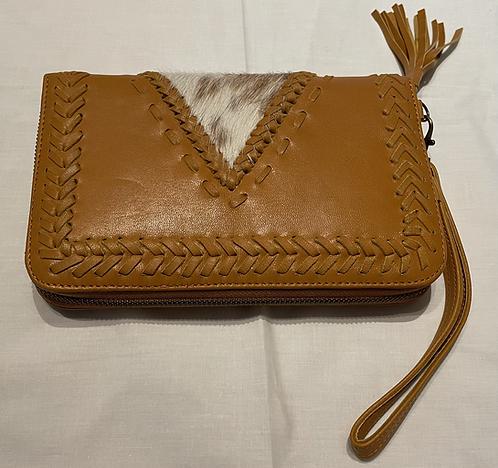 Handmade Leather Purse - Tan