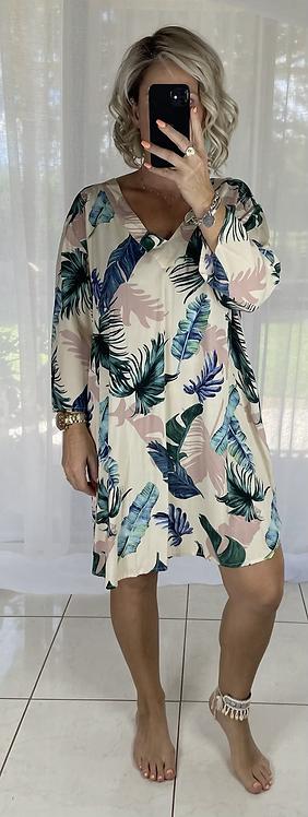 Larnie Shift Dress - Tropical Beige
