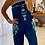 Thumbnail: Embroidered jumpsuit - Blue + Aqua
