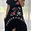 Thumbnail: Embroidered  Dress - Black with Multi