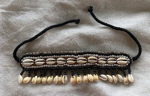 Handmade Shell Anklet - Black