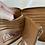 Thumbnail: Handmade Leather Purse - Natural + pink woven