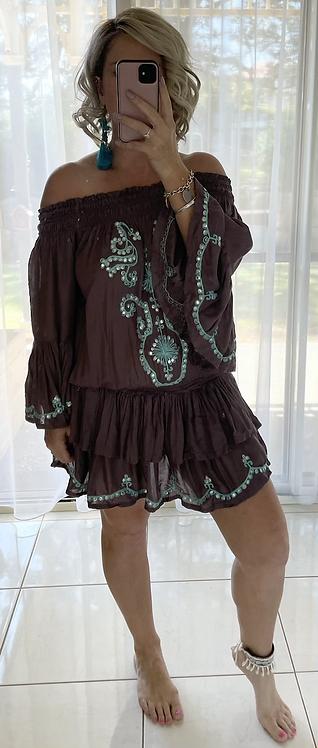 Gorgeous Brown Sequin Dress