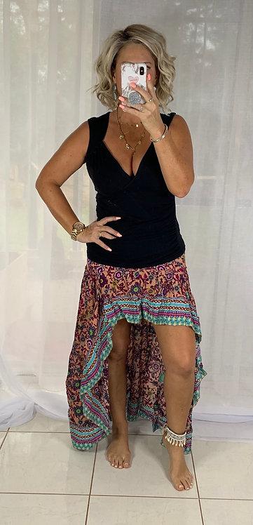 Roxy Skirt - Pink + Aqua