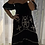 Thumbnail: Embroidered Sequin Maxi Dress - Black