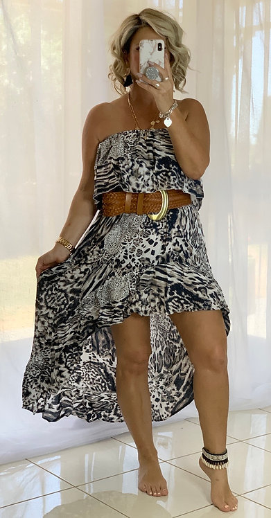 Roxy Dress - Chocolate Leopard