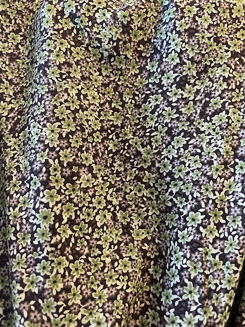 Augie - Green & Grey Ditsy floral****