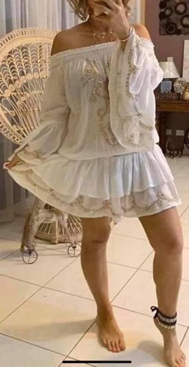 Gorgeous White Sequin Dress