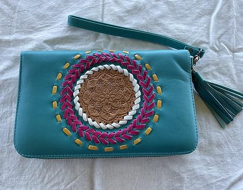 Handmade Leather Purse - Green