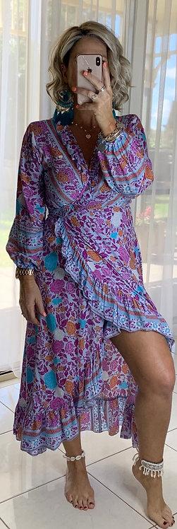 Ella Wrap Long sleeve - Purple 51