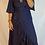 Thumbnail: Ella Flutter Wrap Dress -  Navy