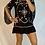Thumbnail: Embroidered Mini Dress  - Black +  Beige + Sequins
