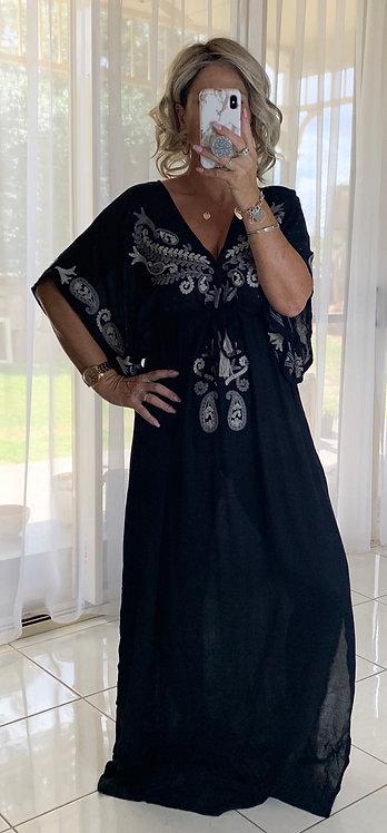 Kaftan - Black Embroidered