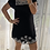 Thumbnail: Cutout Mini Dress - Black + White