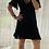 Thumbnail: Juno Short Wrap flutter Sleeve - Black