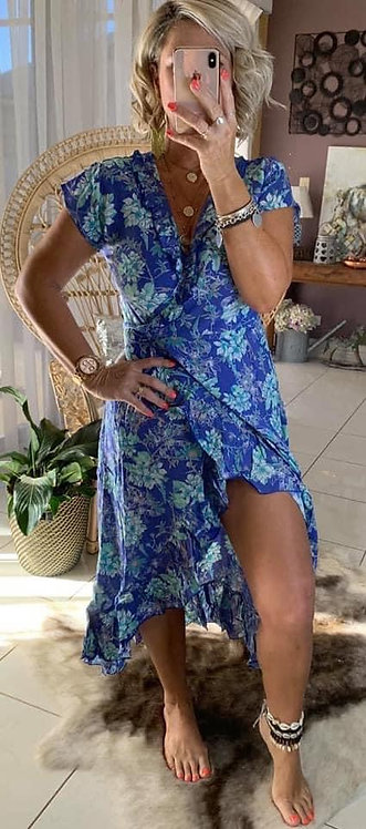 Ella Wrap -  Blue Floral