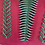 Thumbnail: Handmade Leather Purse - Dark Pink + Green Woven