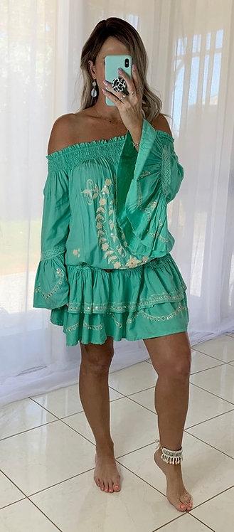Gorgeous Green Sequin Dress