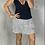 Thumbnail: Latte Ruffle Skirt -  White + black