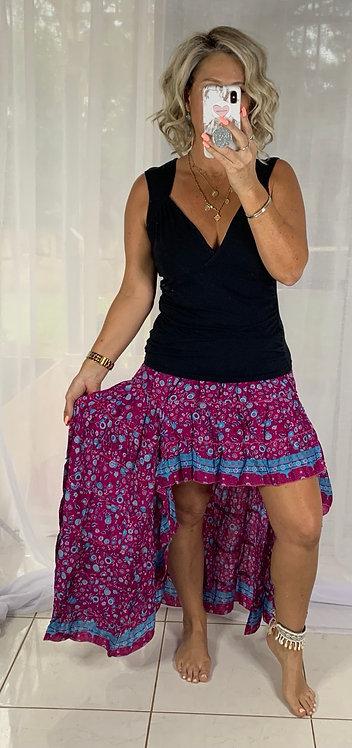 Roxy Skirt - Boho Magenta