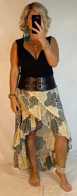 Halo Wrap Skirt - Yellow + Grey