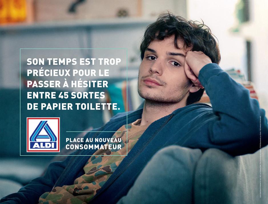 Janvier 2020. Dernière campagne nationale pour Aldi. Agence Ogilvy (France)