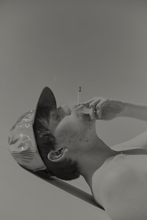 Sam with a cigarette