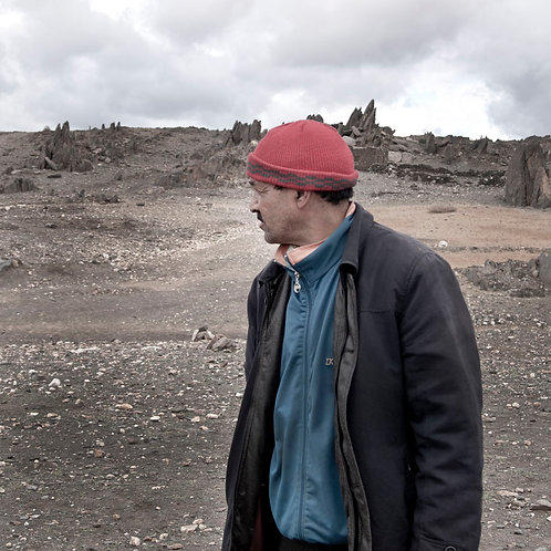 The father with red hat