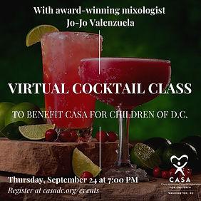 Virtual Cocktail Class Promo 1 September