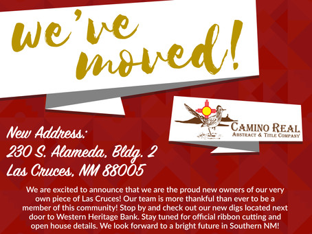 Las Cruces' Favorite Title Company Has Moved!!