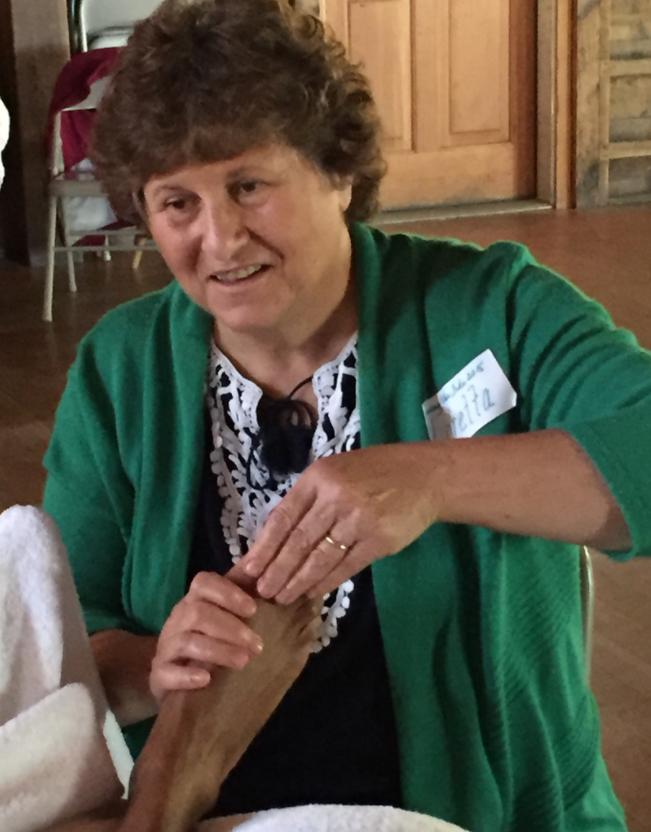 Loretta Baker reflexing feet