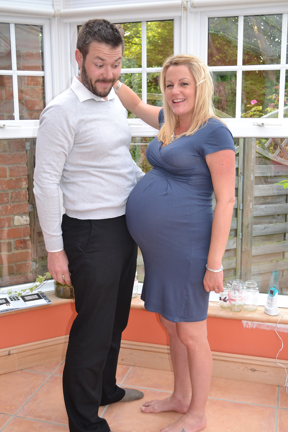 Nik looking impressed by the bump!