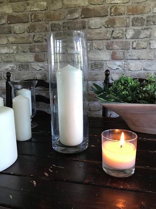 Large Ivory Pillar candle