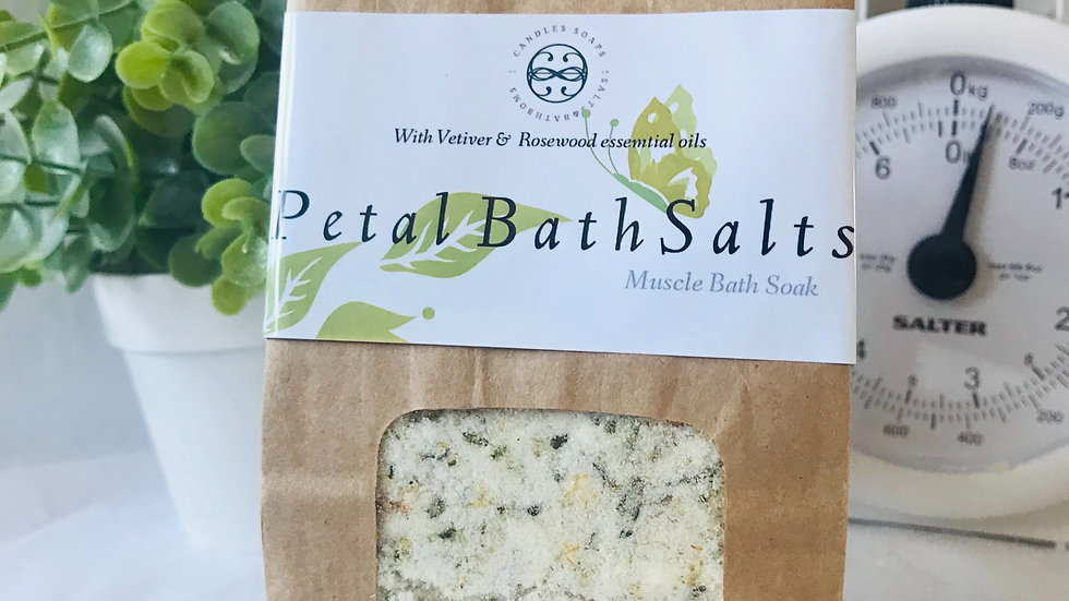Rosewood & Vetiver, Bath Salts