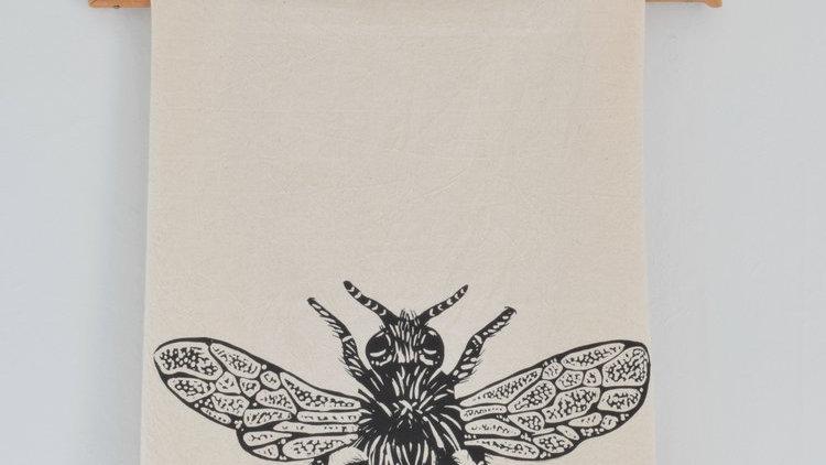Organic cotton tea towel Bumble Bee
