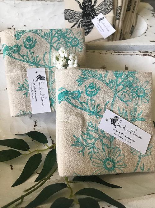 Organic cotton napkins Chamomile