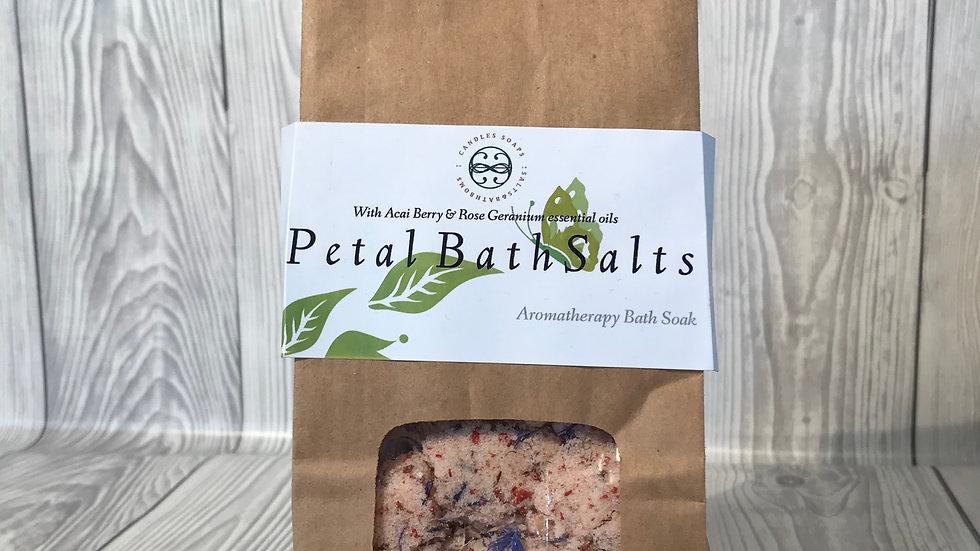 Acai Berry & Rose Geranium Bath salts
