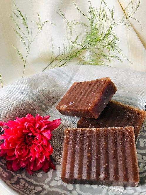 Organic Soap Bar with Strawberry fruit, skin softening, radiance boosting