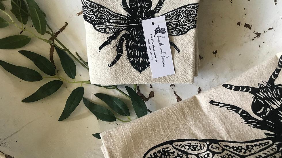 Organic cotton napkins Honey Bee