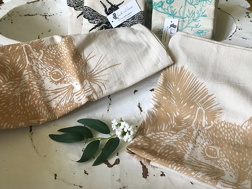 Organic Cotton Tea towel Squirrel