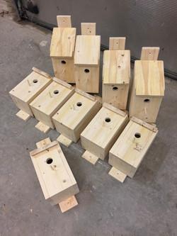 Produktion af fuglehuse.