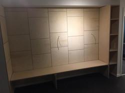 Panelvæg i 9 mm. birkefiner