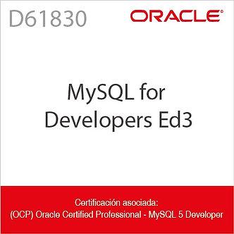 D61830 | MySQL for Developers Ed3