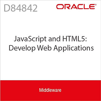 D84842 | JavaScript and HTML5: Develop Web Applications