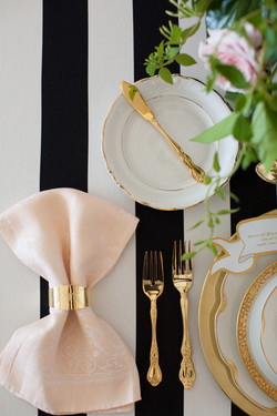 Rent Vintage White and Gold China