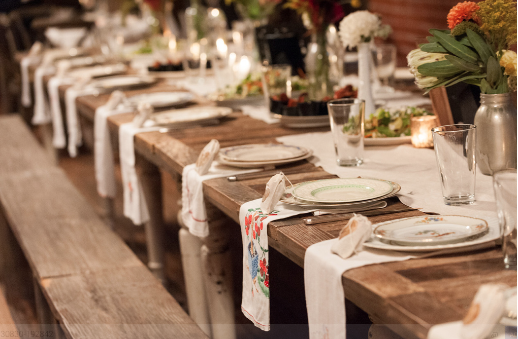 Organic Tabletop Rentals Wedding