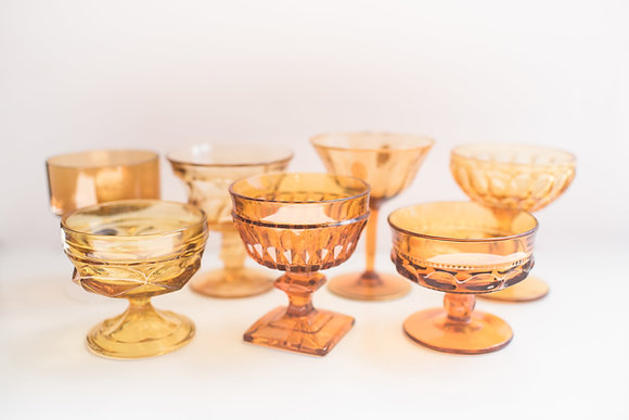 Amber Champagne Coupes